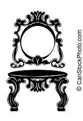 Vintage Baroque Imperial Dressing Table set - Vintage...