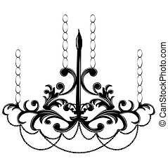 Baroque style wall lamp on white background. Luxury decor...