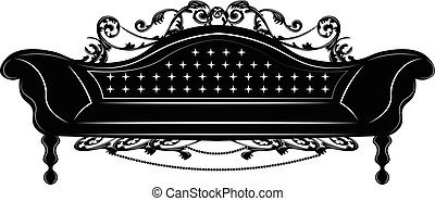 Baroque Imperial sofa. French Luxury rich carved ornaments...