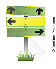 road signs - clear road signs