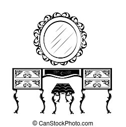 Dressing table silhouette