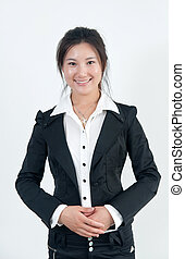 Asian Business Womon - A Beautiful Asian business woman on...