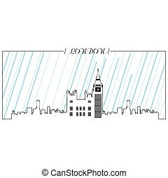 Isolated skyline of London