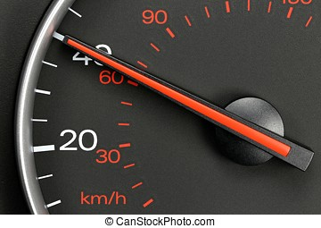 speedometer at 40 MPH