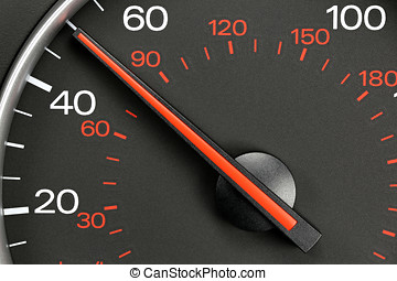 speedometer at 50 MPH