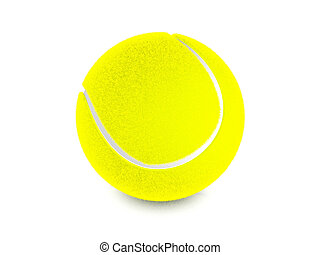Tennis ball on a white background. 3D illustration.