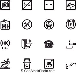 Market store element vector black icon set on white...