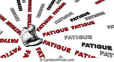 Fatigue - Suffering From Fatigue with a Victim Crying Male