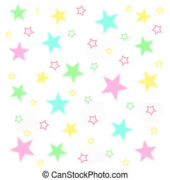 fuzzy baby stars on white background illustration