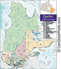 Map of Quebec - Quebec is the second-most populous province...