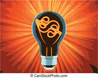 bulb, which represents the profitable idea made in vector