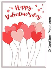 A card for Valentine's day with balloons and greeting