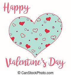 A card for Valentine's day with patterned big heart