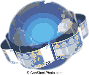 vector Euro, covering the Earth