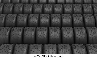 The ranks of automobile tyres