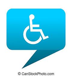 wheelchair blue bubble icon