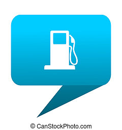petrol blue bubble icon