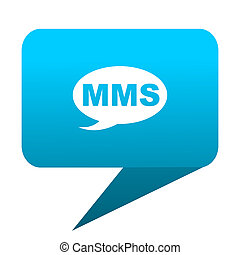 mms blue bubble icon