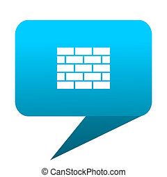 firewall blue bubble icon