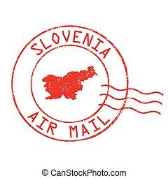 Slovenia post office stamp - Slovenia post office, air mail,...