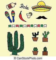 Mexican template for design.