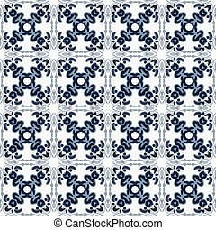 Mexican tiles - Seamless pattern illustration in traditional...