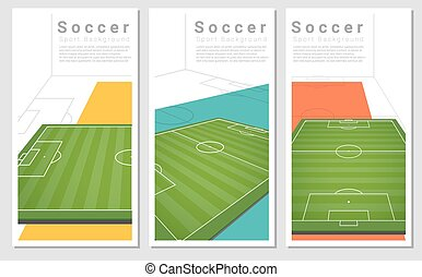 Set of Football field graphic background 1