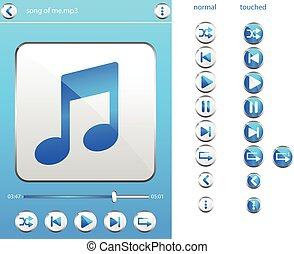 music player icon clipart - music player icon layout for...
