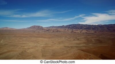 Aerial, Wide Landscape At Tamtetoucht, Morocco. Graded and...