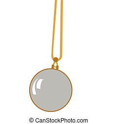 Isolated retro pocket watch on a white background, Vector...