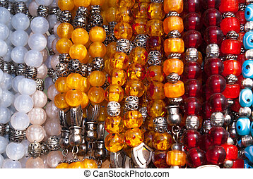 Traditional colorful rosaries