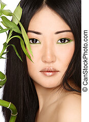 Asian beauty - Close-up portrait of beautiful young asian...