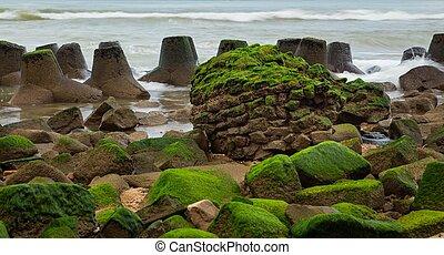 Rocky Coastal Outcrop - A rocky outcrop coastal defence...