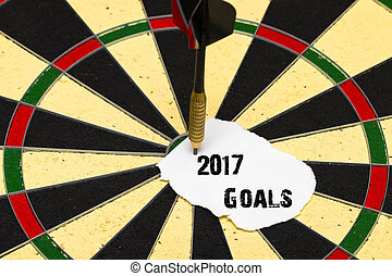 2017 Goals. Darts with dart which was pinned a sheet of paper for labels