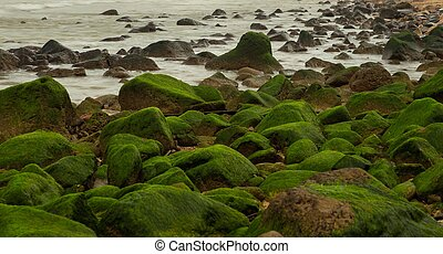 Rocky Coastal Outcrop Barrier - A rocky outcrop coastal...
