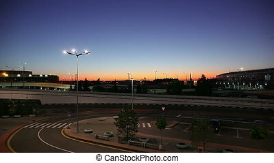 Sheremetyevo airport. Outside. - Videography Airport....