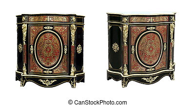 century Boulle French Sideboard inlay with red tortoise...