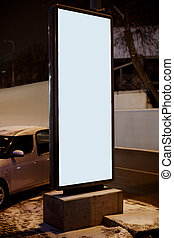 Advertise citylight with clear ad place in the winter night