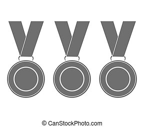 Medals for the winners of the Champions. vector...