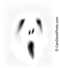 ghost face - creepy ghost face vector format.