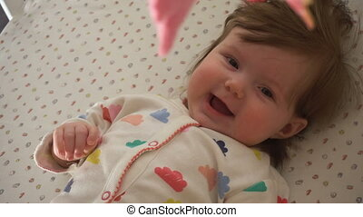 Cute baby girl smiling