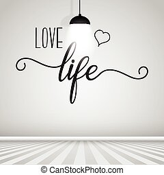 inspiration quote wall decal - Room interior with...