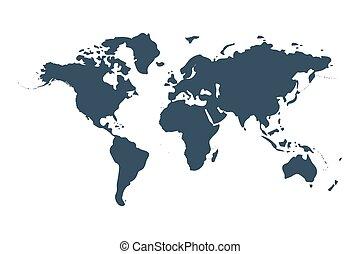 world map isolated on white background