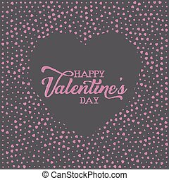 Valentine's Day background with heart pattern