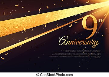 9th  anniversary celebration card template