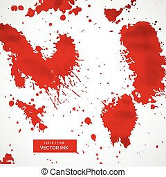 red blood splatter stain collection