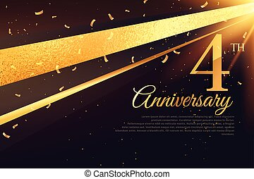 4th anniversary celebration card template
