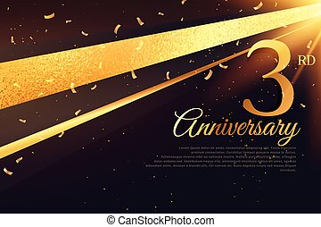 3rd anniversary celebration card template