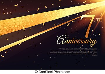 7th anniversary celebration card template