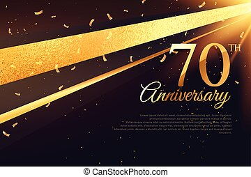 70th anniversary celebration card template